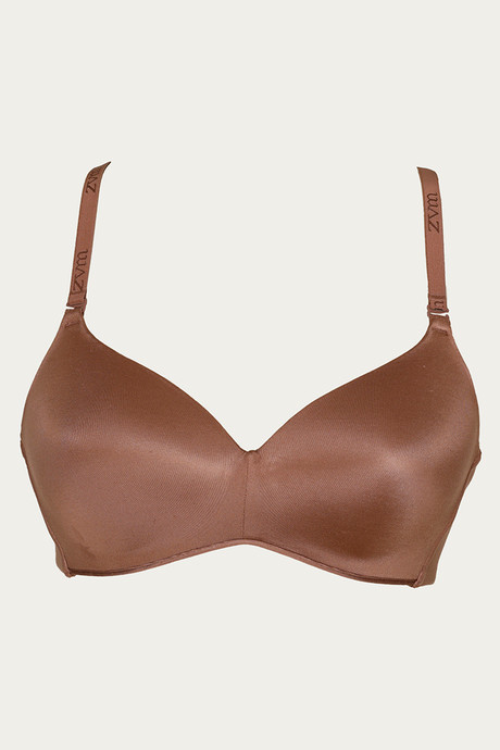 Zivame At Work Wirefree T Shirt Bra Brown