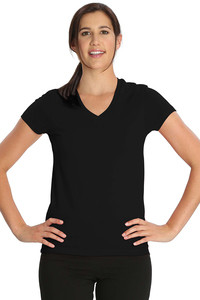 Buy Jockey Soft Cotton Stretch V-neck Tee-Black