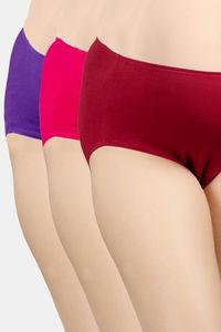Buy Adira Pack Of 3 Maternity Panties - Maroon Magenta Dark Pink