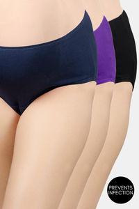 Buy Adira Pack Of 3 Maternity Hygiene Panties - Black Magenta Navy Blue