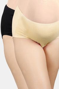 Buy Adira Pack Of 2 Maternity Panties - Skin Black