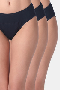 Buy Adira Pack Of 3 Period Hipsters-Navy Blue