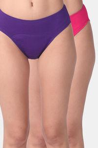 Buy Adira Pack Of 2 Period Hipsters-Dark Pink Magenta