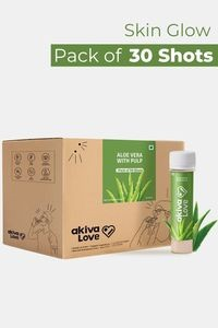 Buy Akiva Aloe Vera Health Shots with Honey For Skin Glow Rich In Antioxidants & Vitamins (40 ML Each - Pack of 30)- Transparent