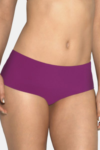 Buy Amante Low Rise 3/4th Coverage Cotton Gusset Vanish Seamless Hipster Panty - Purple