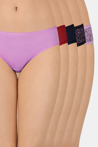 Buy Amante Assorted Low Rise Bikini (Pack Of 5)