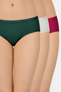 Buy Amante Solid Low Rise Hipster (Pack Of 3)