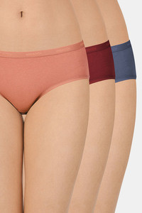 Buy Amante Amante Solid Low Rise Hipster (Pack of 3) - Assorted