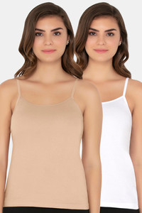 Buy Amante Cotton Tank Top (Pack of 2)