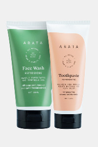 Buy Arata Natural Face Wash & Toothpaste Combo  - White
