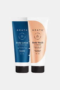 Buy Arata Natural Body Care Set For Men & Women With Body Lotion(75 Ml) & Body Wash(75 Ml) || All-Natural, Vegan & Cruelty-Free || For Intensive Nourishment & Toxin-Free Cleansing