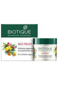 Buy Biotique Bio Fruit Whitening, Depigmentation & Tan Removal Face Pack 75 gm