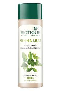Buy Biotique Henna Leaf Fresh Texture Shampoo & Conditioner 190 ml