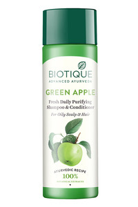 Buy Biotique Green Apple Fresh Daily Purifying Shampoo & Conditioner 190 ml