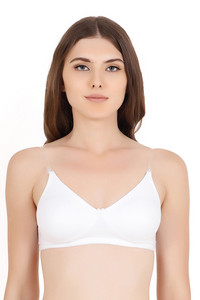 Buy Floret Double Layered Wirefree Natural Lift T-Shirt Bra - White