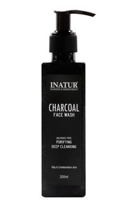 Buy Inatur Ayurveda & Aromatherapy Face Wash - Charcoal 200 gm
