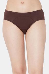 Buy Juliet Medium Rise Full coverage Period Panty - Coffee Brown