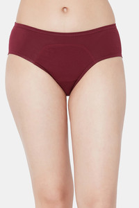 Buy Juliet Medium Rise Full coverage Period Panty - Maroon