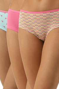Buy Leading Lady Cotton Mid-Rise Floral Boy Shorts -  Peach Skyblue Pink Pack Of 3