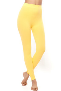 Buy Zivame PowerStretch Seamless Toning Leggings-Yellow