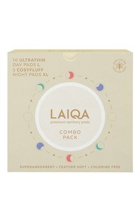Buy LAIQA Premium Sanitary Pads Combo Pack (Day Pads 10's + Night Pads 5's)