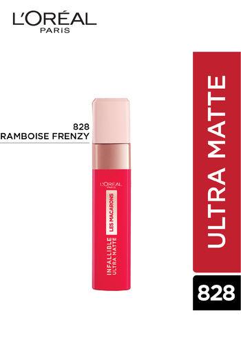 L #x27;Oréal Paris Infallible Ultra Matte Liquid Lipstick, Les Macarons, 828 Franboise Frenzy   5 G