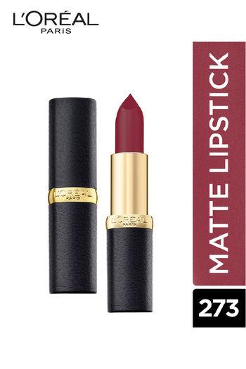 L #x27;Oreal Paris Color Riche Moist Matte Lipstick, 273 Plum Melody   3.7 G
