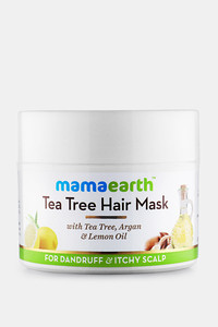 Buy Mamaearth Anti Dandruff Tea Tree Hair Mask with Tea Tree and Lemon Oil For Danrduff Control and Itch Treatement 200 ML (Pack of 1) - White