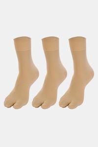 Buy Next2Skin Opaque Thumb Socks (Pair Of 3) - Skin