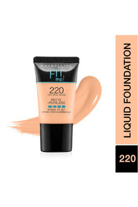 Buy Maybelline New York Fit Me Matte + Poreless Liquid Foundation Tube, 220 Natural Beige - 18 Ml