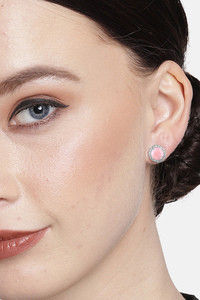 Buy Peora Silver Plated Alloy Party Earrings Jewellary - Pink