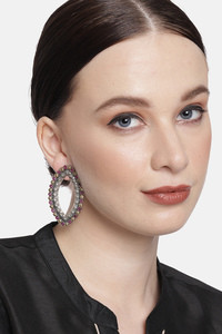Buy Peora Gold Plated Brass Party Earrings Jewellary - Red
