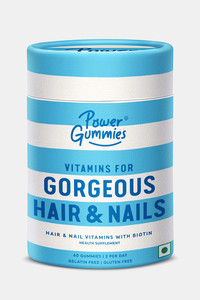 Buy Power Gummies Hair Vitamin with Biotin - 60 GUMMIES - Blue
