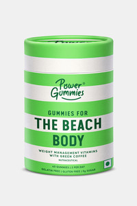 Buy Power Gummies The Beach Body With Green Coffee L-Carnitine Vitamin-C Weight Management Gummies For Men & Women - (60 Gummies - 150 Gm - 1 Month Pack ) - Green