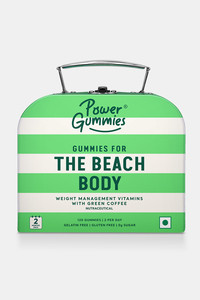 Buy Power Gummies The Beach Body With Green Coffee L-Carnitine Vitamin-C Weight Management Gummies For Men & Women - (120 Gummies - 300 Gm - 1 Month Pack ) - Green