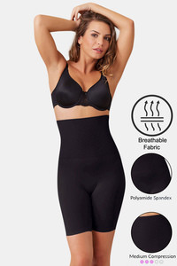 Buy Zivame Medium Compression Tummy Tucker Short - Black