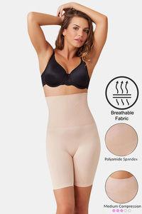 Buy Zivame Medium Compression Tummy Tucker Short - Skin