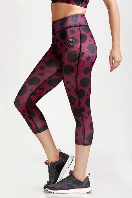 West Vogue Snug Fit Skin Fit Pants-Purple