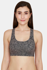 Buy Rosaline Everyday Double Layered Non Wired 3/4th Coverage T-Shirt Bra -Mid Grey Heather