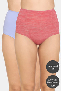 Buy Rosaline Mid Rise Hipster Panty (Pack Of 2) - Blue