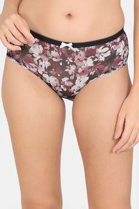 Buy Rosaline Low Rise Bikini Panty - Black AOP