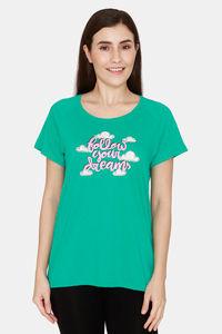 Buy Rosaline Spatial Speckle Knit Cotton Top - Arcadia