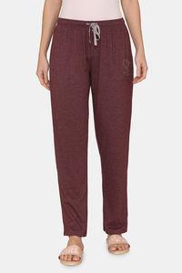Buy Rosaline Spatial Speckle Knit Cotton Pyjama - Grape Wine