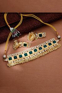 Buy Sukkhi Classic Pearl Gold Plated Kundan Choker Necklace Set for Women