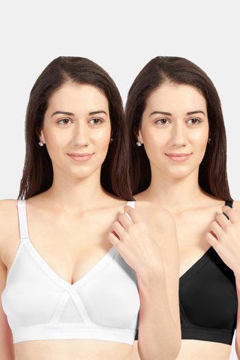 Sonari Britney NX women #x27;s T shirt bra pack of 2  White black