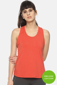 Buy Soul Space Organic Cotton Easy Movement Overlap Tank Top - Red
