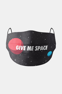 Buy Soxytoes Give me space Washable 100% Cotton Protective Mask with filter - Black