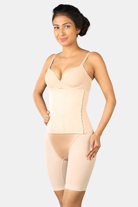 Buy Triumph High Control Full Coverage Back Smoothening With Trenslo boning Tummy and waist shaping Vest - Beige