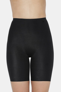 Buy Triumph Becca Extra Height Cotton Long Leg Panty With Mid Waist Extra High Seamless Shaping Thigh Control Shapewear - Black