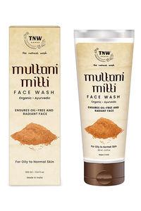 Buy Tnw The Natural Wash Multani Mitti Face Wash Oily To Normal Skin With Kashmiri Kesar - 100 Ml